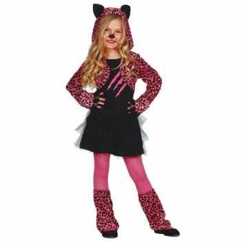 Foute party kleding katten jurkje kids