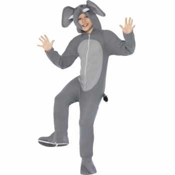 Foute party kleding olifant all in one voor kinderen