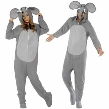 Foute party kleding olifant all in one voor volwassenen