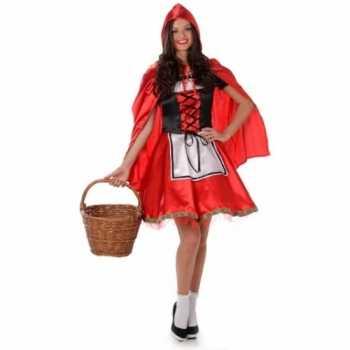 Foute party kleding roodkapje voor dames