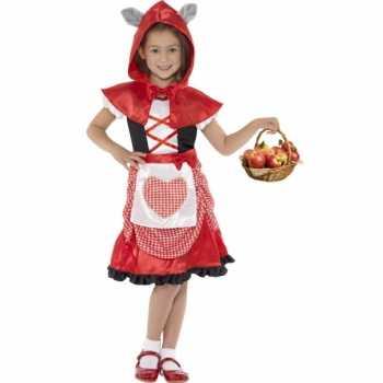 Foute party kleding roodkapje voor meisjes