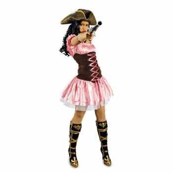 Foute party kleding roze musketiersjurkje
