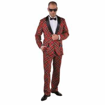 Foute party kleding schotse ruit voor heren