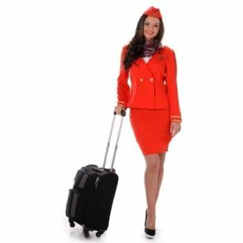 Foute party kleding stewardess rood