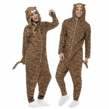 Foute party kleding tijger all in one voor volwassenen
