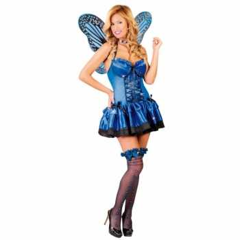 Foute party kleding vlinder party kleding blauw