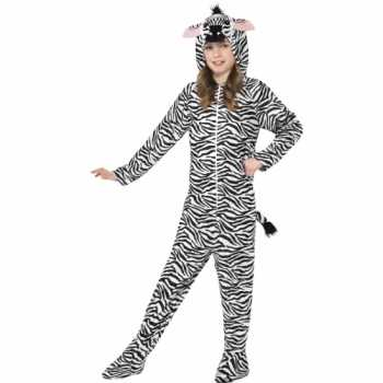 Foute party kleding zebra all in one voor kinderen party