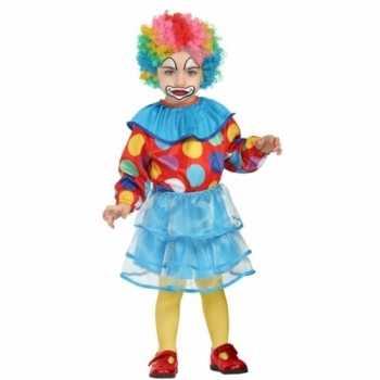 Foute peuter meisjes party kleding clown