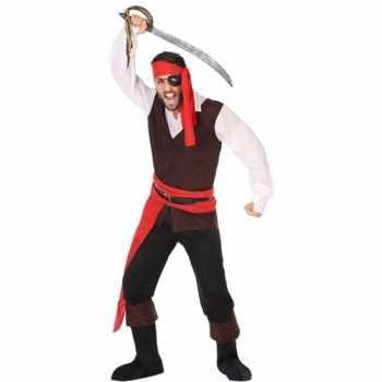 Foute piraat john pak/party kleding voor heren