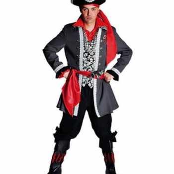 Foute piraten party kleding luxe voor heren