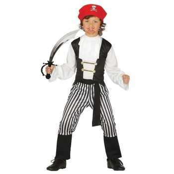 Foute piraten party kleding maat 128 134 met zwaard voor kinderen