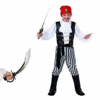 Foute piraten party kleding maat m met zwaard voor kids
