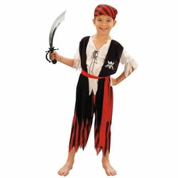 Foute piraten party kleding maat m met zwaard voor kinderen