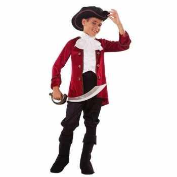 Foute piraten party kleding rood/zwart voor jongens