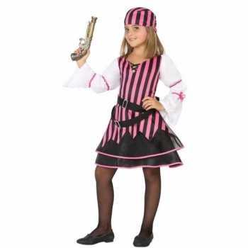 Foute piraten party kleding voor meisjes roze