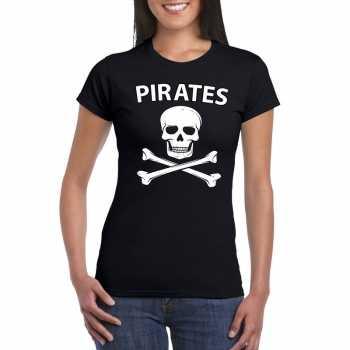 Foute piraten shirt zwart dames party