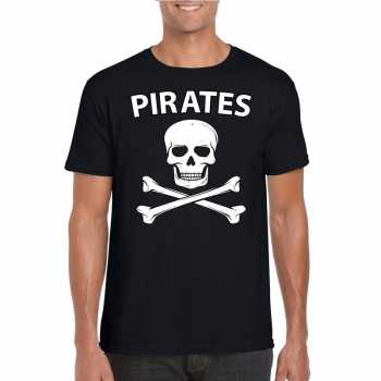 Foute piraten shirt zwart heren party