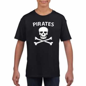 Foute piraten shirt zwart kinderen party