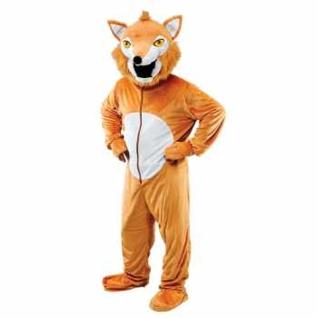 Foute pluche vos party kleding voor volwassenen