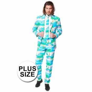 Foute plus size heren party kleding flamingo