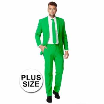Foute plus size heren party kleding groen