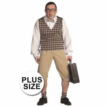 Foute plus size nerd party kleding heren