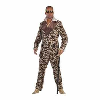 Foute pooier party kleding met panterprint