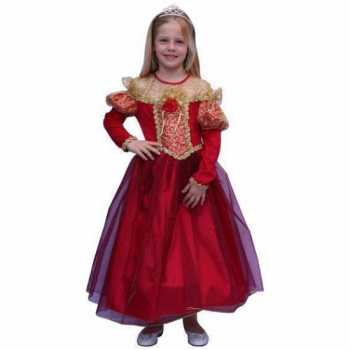Foute prinsessen party kleding voor meisjes in de kleur rood