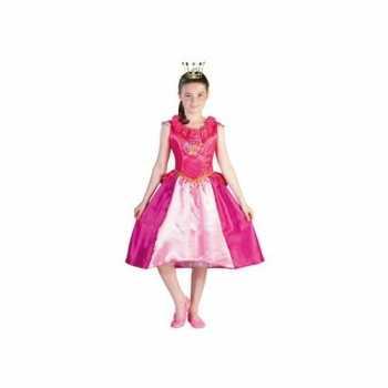 Foute prinsessia party kleding roze