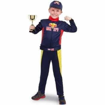 Foute race/formule 1 party kleding met beker voor jongens