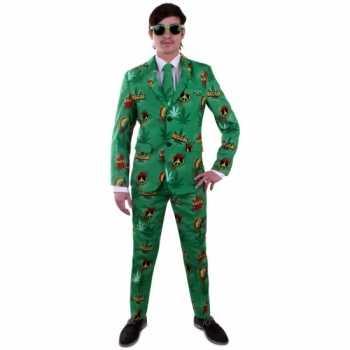 Foute reggae party kleding pak voor heren