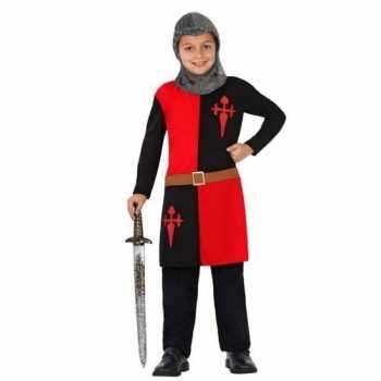 Foute ridder pak/ party kleding rood voor jongens