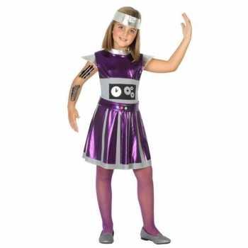 Foute robot jurk/jurkje voor meisjes party