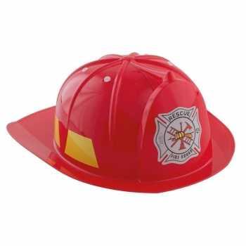 Foute rode brandweerhelm accessoire voor kinderen party