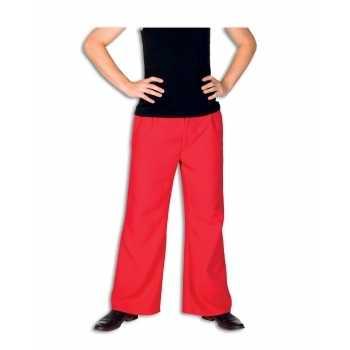 Foute rode party kleding broek voor heren