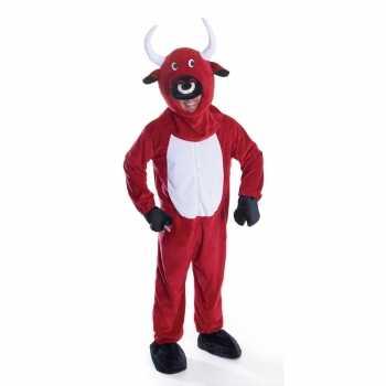 Foute rode stier party kleding voor volwassenen