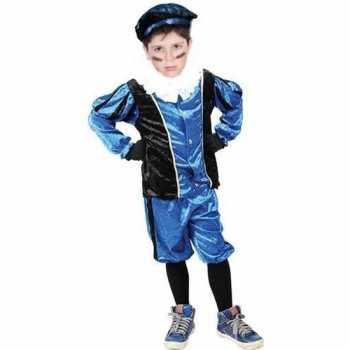 Foute roetveeg pieten party kleding blauw/zwart voor kinderen