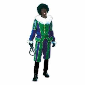 Foute roetveeg pieten party kleding groen/blauw voor dames en heren
