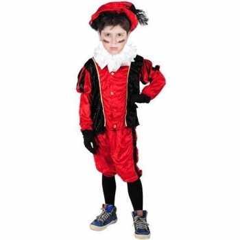 Foute roetveeg pieten party kleding rood/zwart voor kinderen