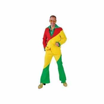 Foute rood/geel/groene party kleding voor volwassenen