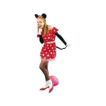 Foute rood muisje party kleding voor dames