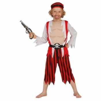 Foute rood piraten party kleding voor kinderen
