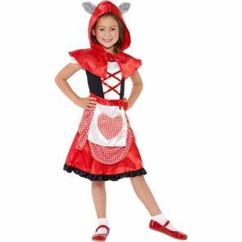 Foute roodkapje party kleding voor meisjes