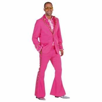 Foute roze glitter party kleding heren
