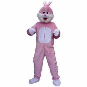 Foute roze konijnen party kleding
