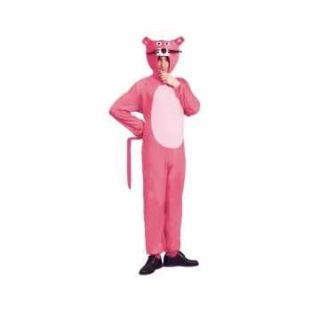 Foute roze panter party kleding voor volwassenen