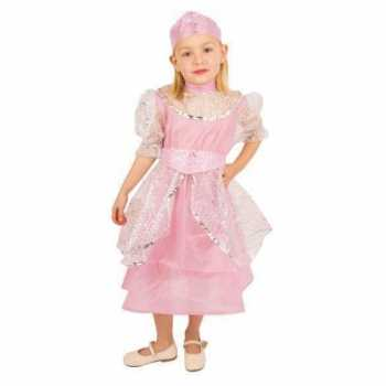 Foute roze prinsessenjurk kinderen party