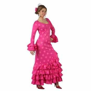Foute roze spaanse party kleding jurk