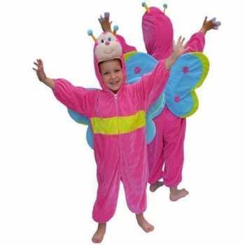 Foute roze vlinder party kleding van pluche