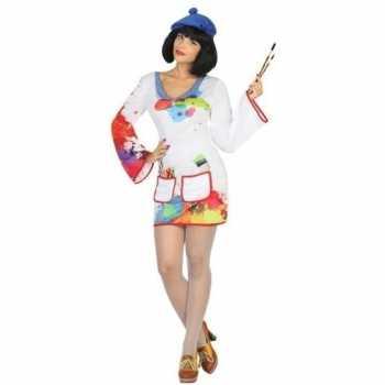 Foute schilder pak/party kleding voor dames